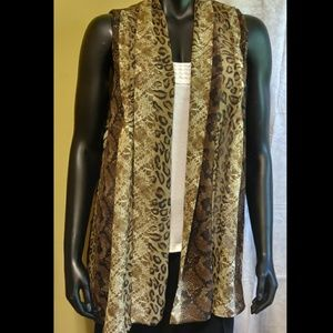 📚 Susan Graver Sheer Animal Print Sleeveless Top